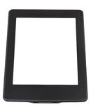 E-book reader with cut out screen isolated Royalty Free Stock Photos