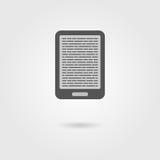 E-book reader icon with shadow Stock Photo