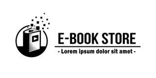 E-Book Store Logo. E-books vector and illustration. stock illustration
