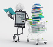 E-Book shopping Stock Photo