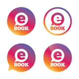 E-Book sign icon. Electronic book symbol. Stock Image
