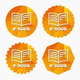 E-Book sign icon. Electronic book symbol. Stock Photo