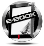 E-Book Symbol with Tablet Computer Royalty Free Stock Image