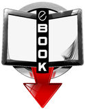 E-Book Symbol with Tablet Computer Royalty Free Stock Photo
