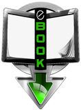 E-Book Symbol with Tablet Computer Stock Photos