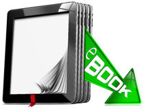 E-Book Symbol with Tablet Computers Royalty Free Stock Photography