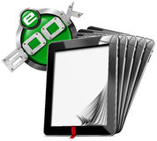 E-Book Symbol with Tablet Computers Royalty Free Stock Image