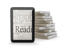 E-books concept illustration Royalty Free Stock Images