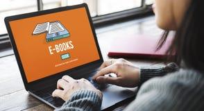 E-Books E-Reader Media Literature Innovation Technology Concept. E-Books E-Reader Media Literature Innovation Technology stock photography