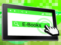 E Books Represents World Wide Web And Websites Royalty Free Stock Photos
