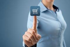 E-boutique Image libre de droits