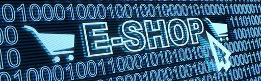 E-boutique et code binaire illustration libre de droits