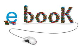 E-Buch Konzept, Cdrvektor Lizenzfreies Stockbild