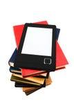 E-Buch und Bücher Lizenzfreies Stockbild
