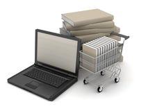 E-Buchhandlung - Konzeptillustration Lizenzfreie Stockbilder