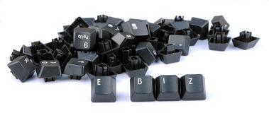 E business. Formed by keys on a computer keyboard Royalty Free Stock Image