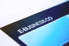 E- business Royalty Free Stock Photography