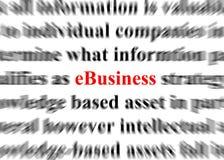 E-business Stock Fotografie