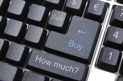 E-business computer keyboard Stock Photos