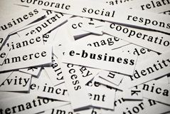 E-Business. Concept of words related with business Stock Photo