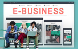 E-business E-commerce Business Responsive Design Concept Stock Photography