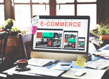 E-business E-commrce BusinE-business E-commerce Business Responsive Design Concept. ess Responsive Design Concept Royalty Free Stock Images