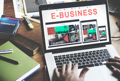 E-business E-commrce Business Responsive Design Concept Royalty Free Stock Image