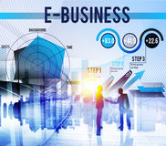 E-business Globaal Bedrijfs Digitaal Marketing Concept Royalty-vrije Stock Fotografie