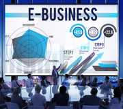 E-Business Global Business Digital Marketing Concept Stock Images