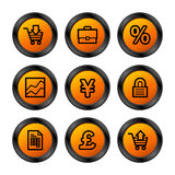 E-business icons, orange ser. Royalty Free Stock Photography