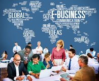 E-Business Ideas Analysis Communication Solution Social Concept Royalty Free Stock Photos
