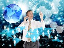 E-business. Internet.Network technology Royalty Free Stock Photography