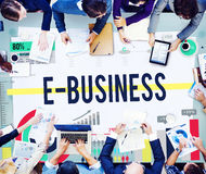 E-business Internet Networking Website Commerce Concept Stock Photos