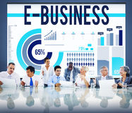 E-business Internet Networking Website Commerce Concept Royalty Free Stock Photos