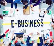 E-Business-Internet-Vernetzungs-Website-Handels-Konzept stockfotos