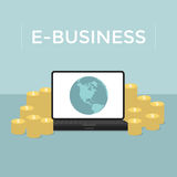 E-Business Make money from computer and internet Royalty Free Stock Photos