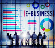 E-Business Online Marketing Strategy Corporate Concept Royalty Free Stock Images
