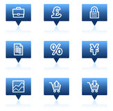 E-business web icons, blue speech bubbles series. Vector web icons set. Easy to edit, scale and colorize Stock Photo