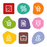 E-business web icons, colour spots series. Vector web icons, colour spots series. Easy to edit, scale and colorize Stock Image