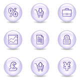 E-business web icons, glossy pearl series Stock Photo