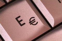 E button Stock Photos