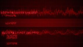 E.C.G. Cardiac impulse sequence on medical monitor