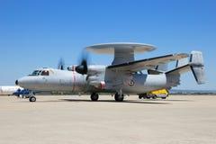 E-2C Hawkeye radaru samolot Obrazy Royalty Free