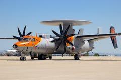 E-2C Hawkeye radaru samolot Obraz Royalty Free