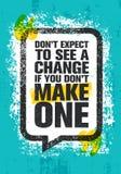 E Calibre créatif de inspiration d'affiche de citation de motivation illustration libre de droits