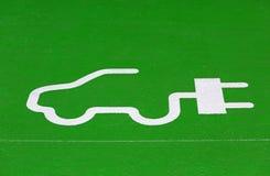 E-car_sign foto de stock