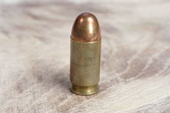 E cartucho de 45 calibres Imagem de Stock Royalty Free