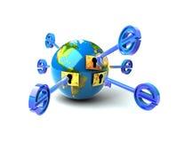 E-chave Imagem de Stock