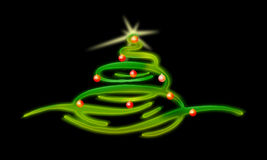 E CHRISTMAS TREE. Christmas tree with star and decorations Stock Images