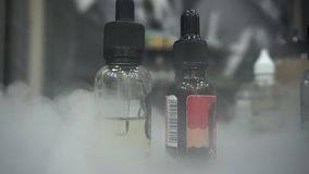 E-cig liquids stock video footage